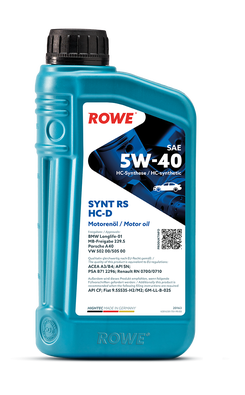 HIGHTEC SYNT RS SAE 5W-40 HC-D